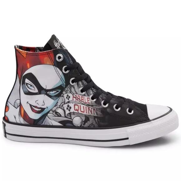 d2cffce29e0d Converse Harley Quinn Batman Chuck Taylor Sz 8